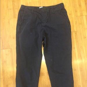 Zara women navy chino pants